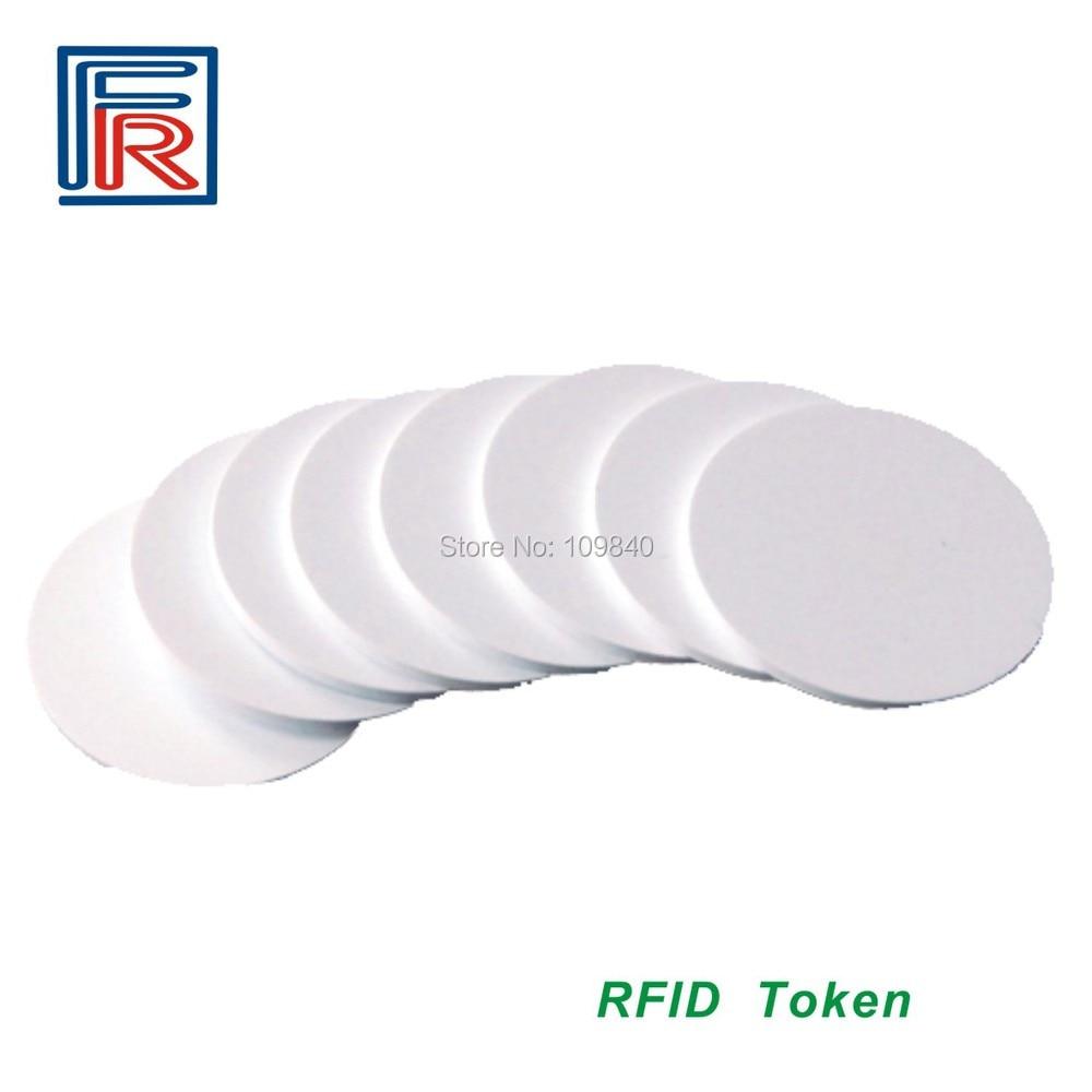 Free shipping 13.56MHz RFID PVC Token tag with Compitable M1 S50 chip ISO14443A 25mm Diameter 100pcs hw v7 020 v2 23 ktag master version k tag hardware v6 070 v2 13 k tag 7 020 ecu programming tool use online no token dhl free