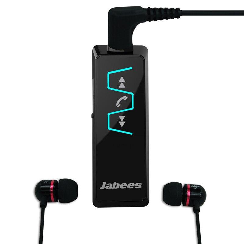 Original Jabees IS901 Bluetooth Headset Stereo Collar Clip Bluetooth Earphone Receiver Wireless Headphones Earphone Music Player bluetooth headphones original jabees bsport bt4 0 headset wireless waterproof earphone earbuds audifonos for running biking