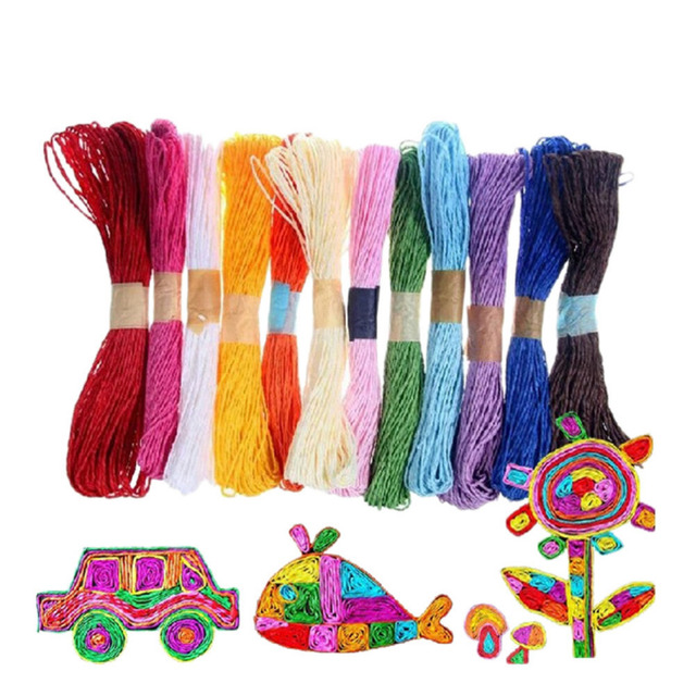 10M 2mm 10 Colors DIY Twisted Paper Raffia Craft Favor Gift Wrapping Twine Rope Thread Scrapbooks Invitation Flower Decoration