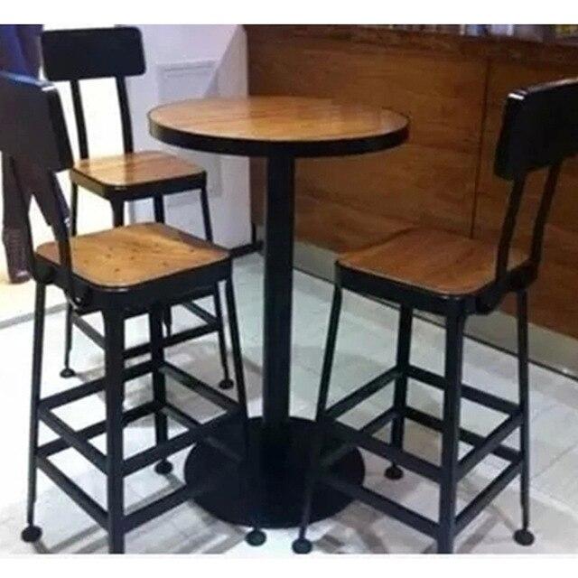 Starbucks mesas highchairs sal n sillas de hierro forjado for Mesa redonda para 6 sillas