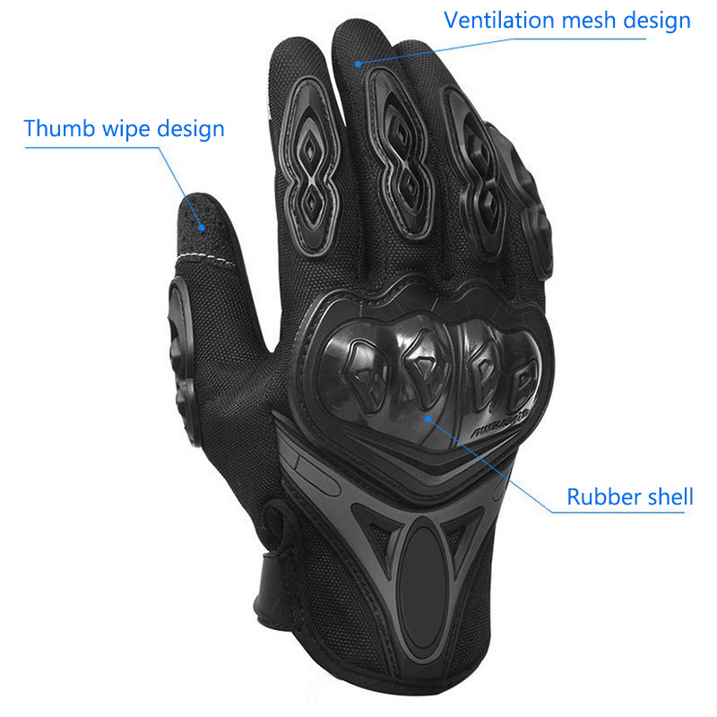 Motorcycle Gloves Full Finger Cycling Gloves Touch Screen Men And Women Outdoor Riding Sports Four Seasons Motocross Gloves