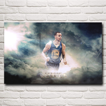 Stephen Curry Basketball Star Art Silk Fabric Poster Print Wall Home Decor Pictures 12x19 15x24 19x30 22x35 Inches Free Shipping