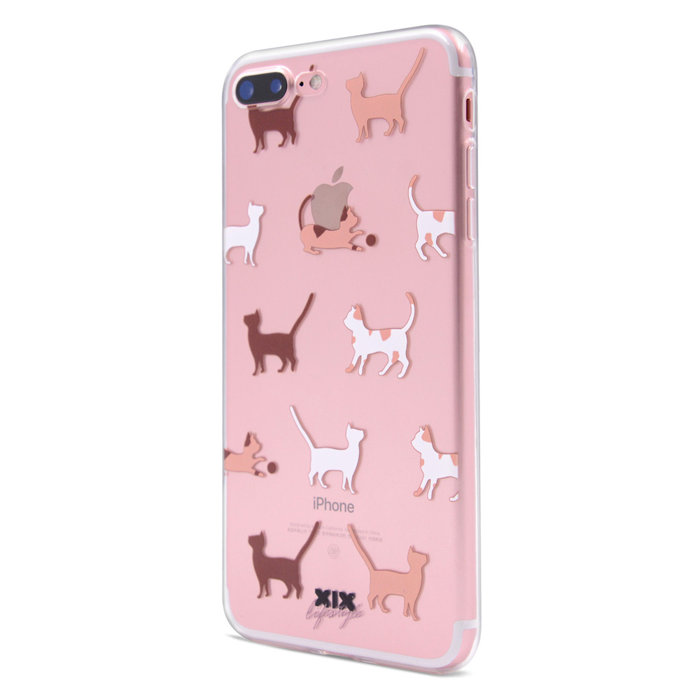 Cute Cats Soft Silicone iPhone 7 Case