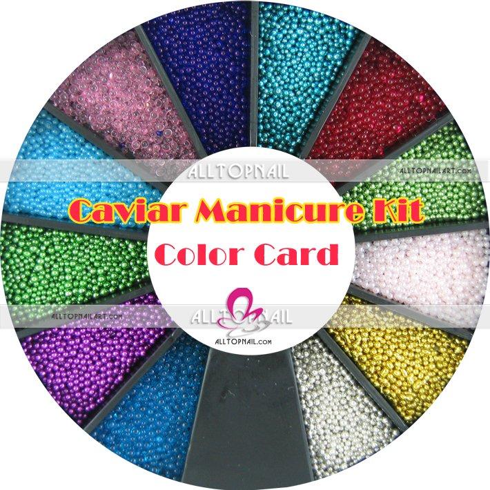 0.8-1.0 мм Икра маникюр Kit Micro Бусины micro красочный бал микро-Perle Дизайн ногтей мини Бусины украшения Интимные аксессуары 12 видов цветов
