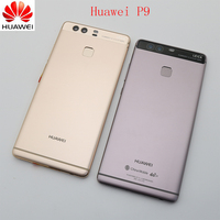 Original Replacement Battery Housing Cover For Huawei P9 Back Door Housing With Side Buttons + Fingerprint Sensor Flex Cable