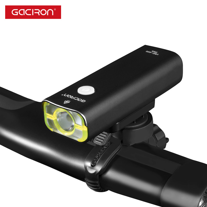 Gaciron Bicycle Headlight Bicycle Light Front 400 Lumens LED Lamp 18650 Battery Rechargeable Flashlight With 5 Modes