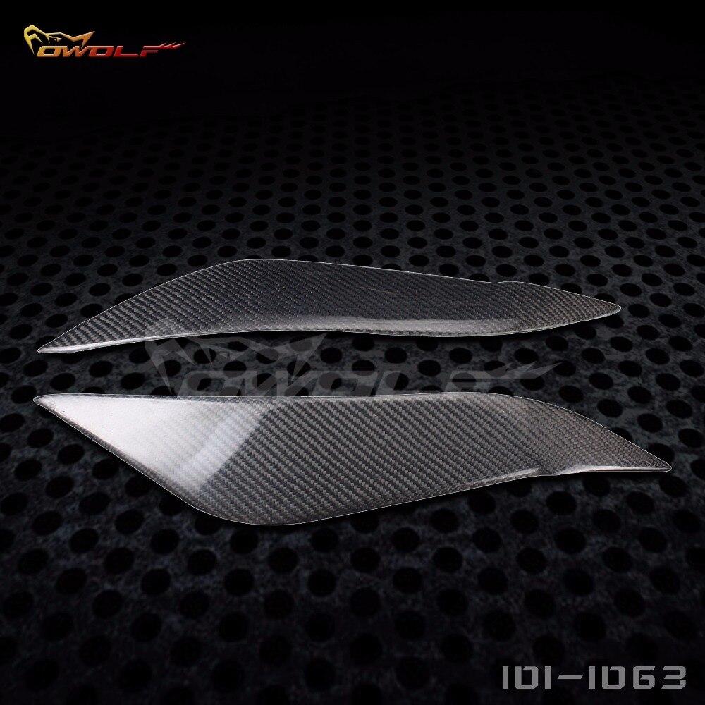 Carbon Fiber Headlight Eyebrows Eyelids for Toyota Corolla Sportivo E12 ZZE122R[1011063]