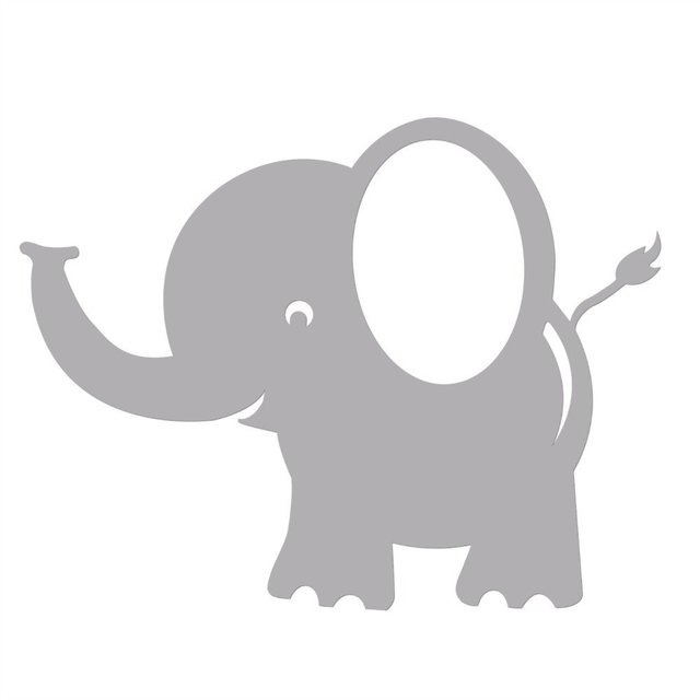 Bobee Baby Elephant Wall Decals For Kids Room Decor Nursery Sticker Light Grey 5