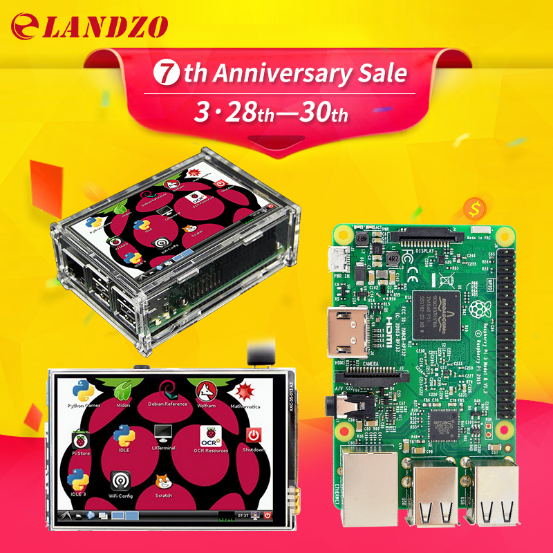 Raspberry Pi 3 Model B Board 3 5 font b LCD b font Touch Screen Display