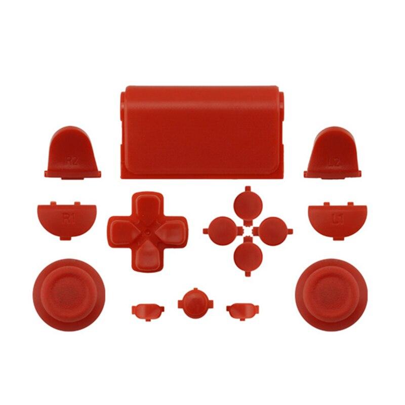 Melnās pilna komplekta rezerves daļu pogas PlayStation 4 PS4 - Spēles un aksesuāri - Foto 5