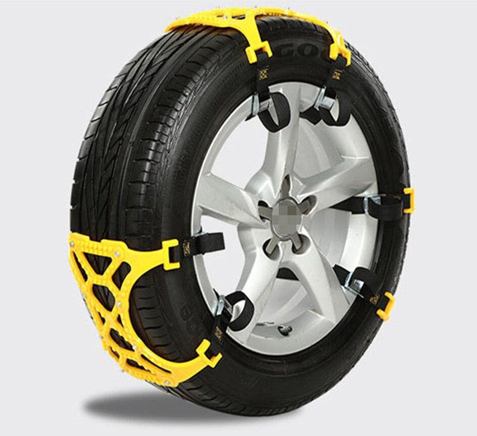 3 pièces universel réglable Double boucles voiture neige pneu anti-dérapant chaîne sécurité chaînes Auto extérieur Snap dérapage roues chaînes - 3