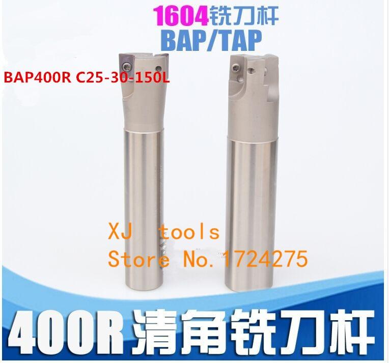 10PC APMT1604 M2 C25 milling cutter BAP400R C25-30-150 Face milling cutter tool