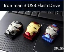 Купить с кэшбэком 2017 Iron man Model USB Flash Drive 64GB 32GB 16GB 128GB Car Key Memory Stick Flash Pen Drive U disk thumbdrives eye light disk