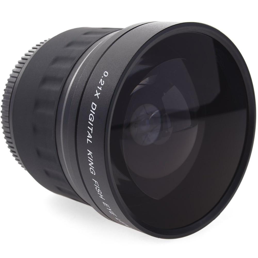 52mm 0.21X Fisheye pour Nikon D700 D300 D200 D90 D70 D3000 D3100 D3200 D5000 D5100 D5200 avec Objectif 18-55mm
