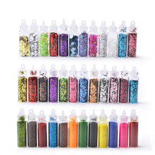 12Colors Shiny Nail Glitter Dipping Powder Nails Ultra-thin Sequin Set 3d Hollow Acrylic Flakes For DIY Decorations