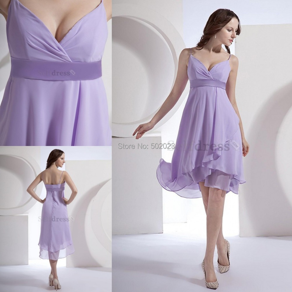0ddba38082b Empire Waist Lavender Ruffles Knee Length Summer Beach Fall Hourglass  Misses Mid Back Short Chiffon Bridesmaid Dress 2014 YJM809-in Bridesmaid  Dresses from ...