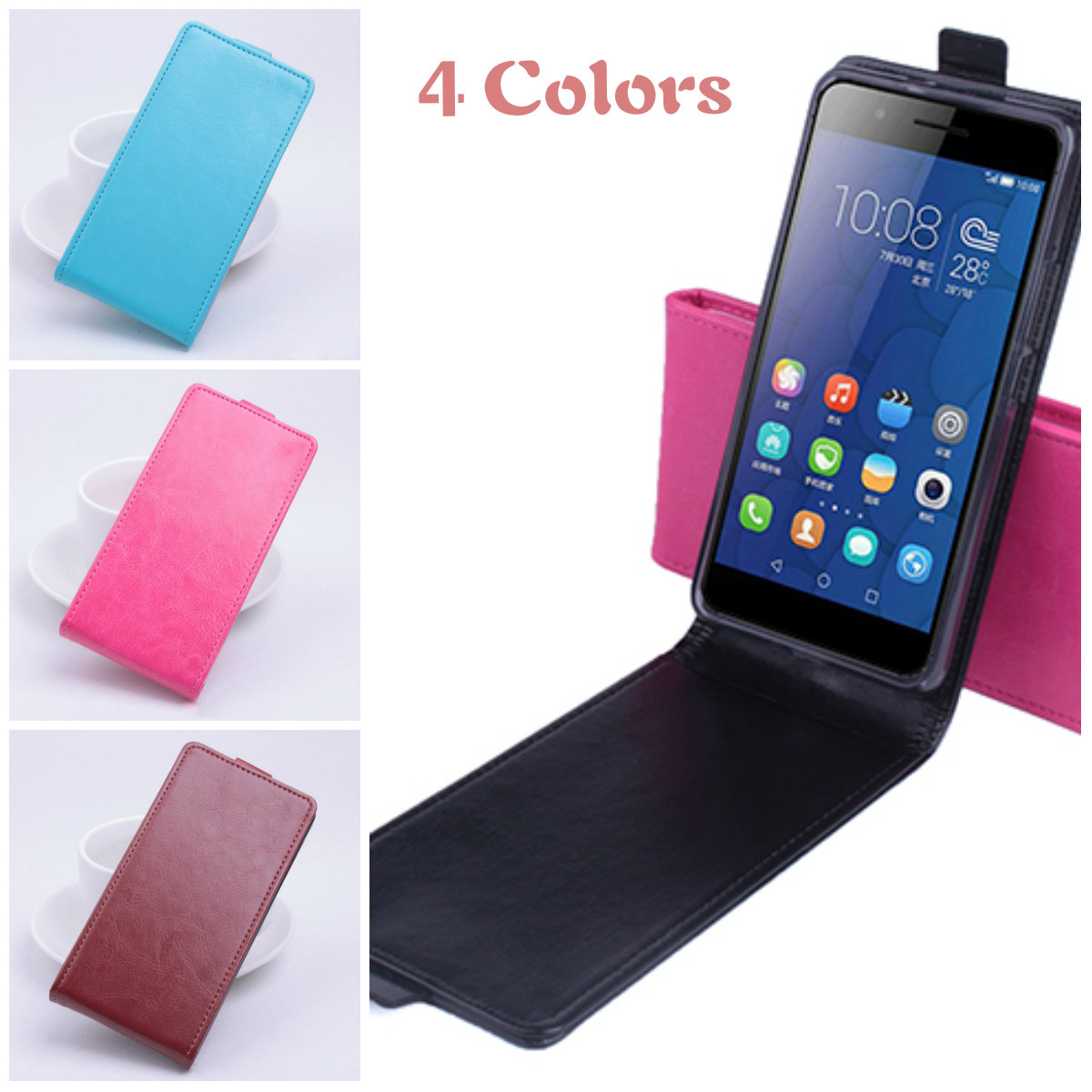 Vertical Flip Magnetic Pu Leather Case For Fly IQ4415 IQ 4415 Quad ERA Style 3 Phone Protective Shell Up Down Style Men Cases