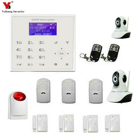 YobangSecurity WIFI GSM Touch KeyPad Wireless Wired Home House Alarm System Kits Intruder Burglar Alarm System IOS/Android APP kerui black white intelligent wireless gms sms call home burglar intruder ios android app security alarm system touch keypad