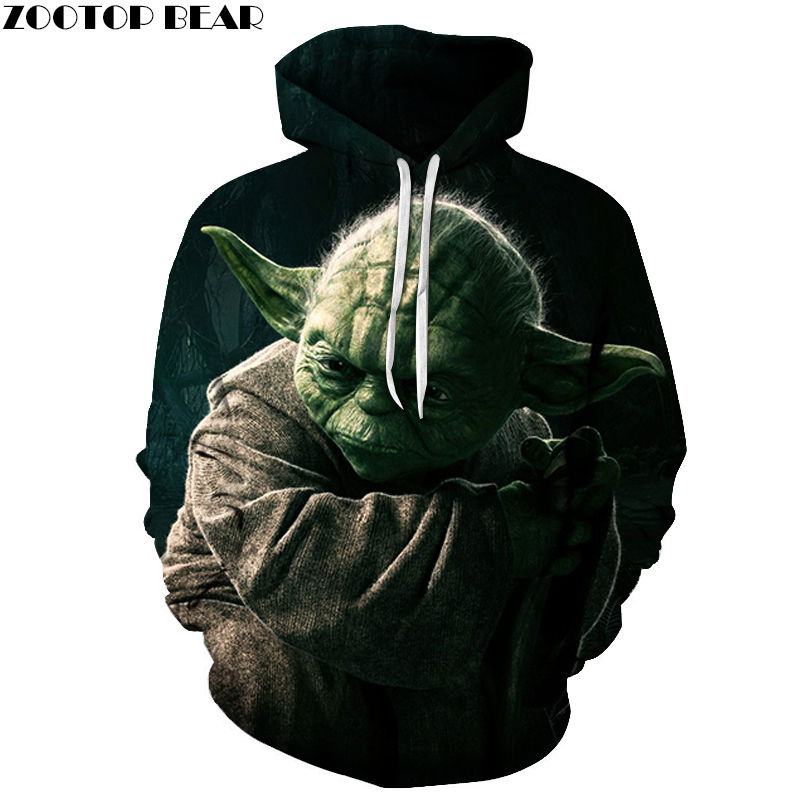 Cosplay 3D Hoodies Sweatshirts Hot Star Wars Anime Men Pullover Casual Pullover Tracksuits Brand Drop Ship Hot Sell ZOOTOP BEAR