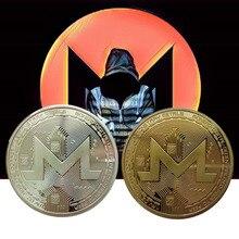 Монеты XMR Monero, памятные монеты для коллекции, художественная коллекция, позолоченные монеты Биткоин, специальные монеты эфириума, жесткая в...