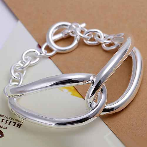 H238 Pretty Silver Plated Bracelets For Women Wholesale Free Shipping Charm silver 925 jewelry Fashion Jewelry angel Bracelet