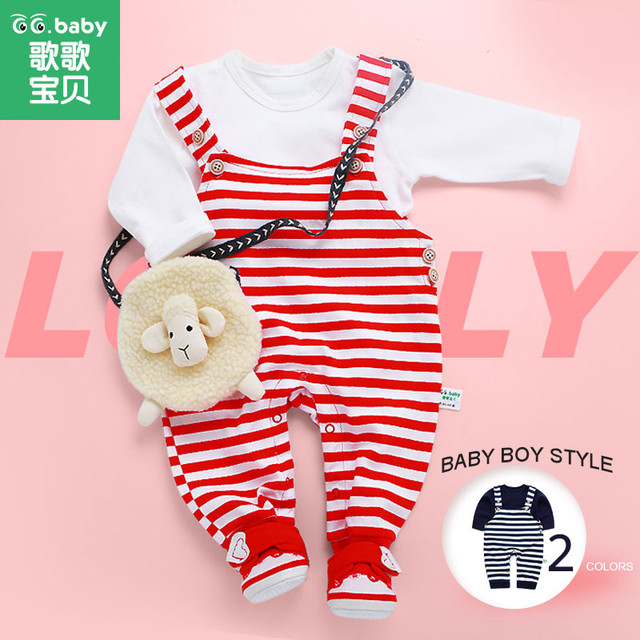 2 pcs/set Baby Boys Clothes Set Striped Suspender Pants White Shirts Baby Girl Clothing Sets Outfits Boy Suit Newborn Outfit