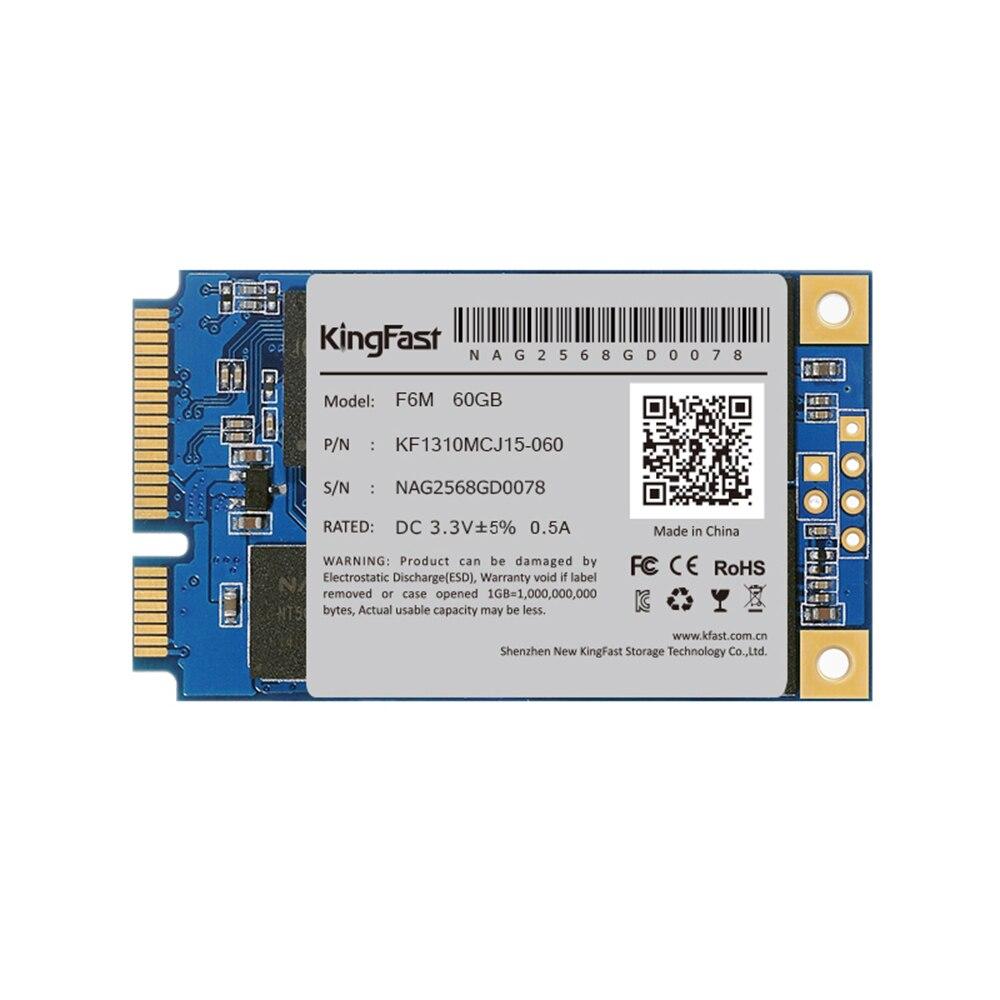 KingFast F6M SSD Solid State Drive 60G mSATA3.0 III MLC Flash Internal Solid State Drive 60GB for Ultrabook/Notebook/Desktop zheino q1 msata sata iii 6gb s ssd 60gb ssd solid state drive mlc flash storage devices disk for desktoo laptop