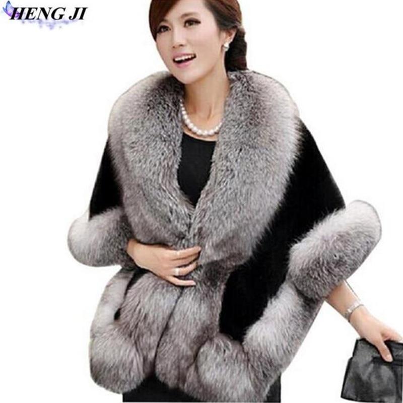 2017 autumn and winter new style imitation fur cape coat cloak imitation mink fur cloak 5