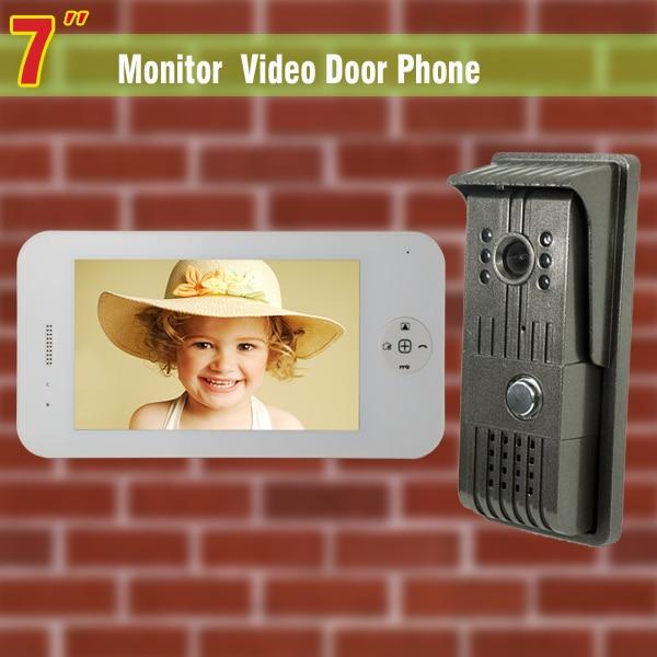 7 video door phone intercom system night vision intercom video door phone entry system with 1 Camera + 1Monitor video intercom