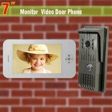 7″ video door phone intercom system night vision intercom video door phone entry system with 1 Camera + 1Monitor video intercom