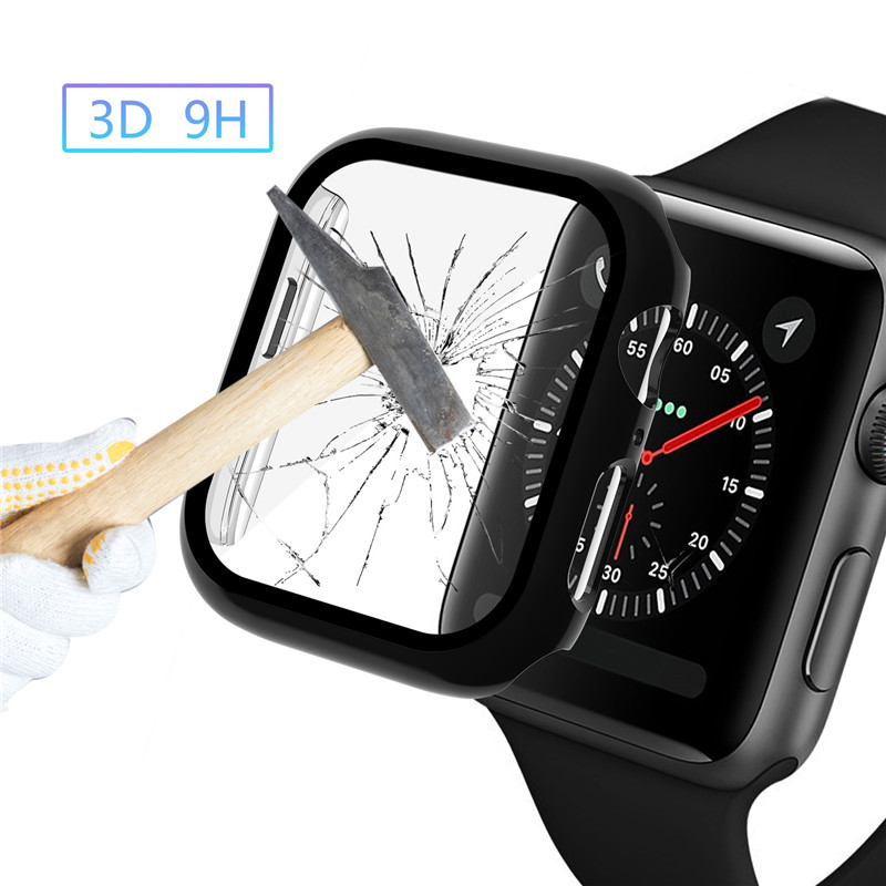 Tempered film for Apple Watch Series 4 40mm 44mm Screen Protector for iWatch 3D Full Coverage HD Anti-Bubble Tempered Glass