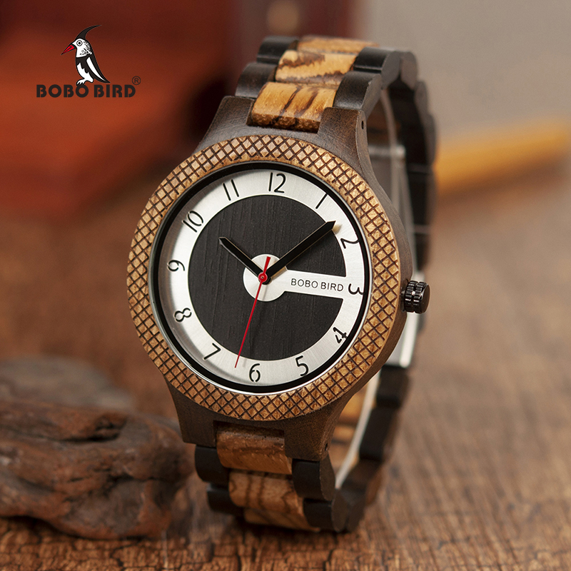 BOBO BIRD Men Wooden Watches Luxury Retro Design Quartz Wristwatch relogio masculino C-R07 luxury brand bobo bird men watches wooden quartz wristwatch genuine leather strap relogios masculinos b m14