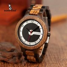 BOBO ptak mężczyźni drewniane zegarki luksusowe Retro projekt kwarcowy zegarek relogio masculino C R07