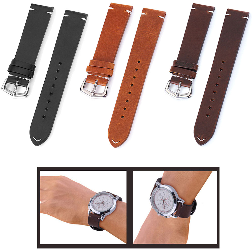 Genuine Leather Watch Band Strap Stainless Steel Clasp 18mm 19mm 20m 21mm 22mm 24mm Watchband Women Men Watch StrapGenuine Leather Watch Band Strap Stainless Steel Clasp 18mm 19mm 20m 21mm 22mm 24mm Watchband Women Men Watch Strap