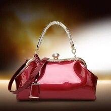 JUILE high quality pu bright leather Women Handbag noble temperament Messenger bag shoulder Bag Ladies brand design evening