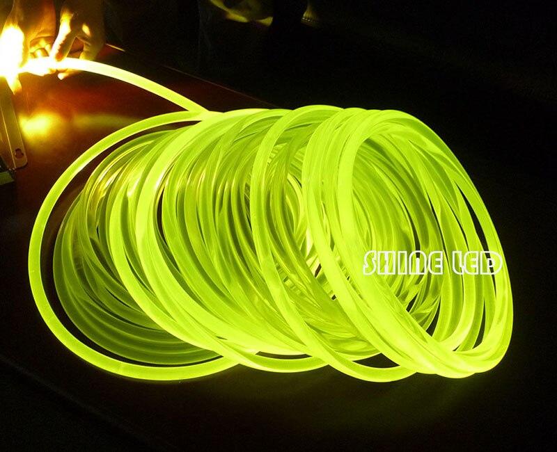 Super Bright PMMA Optical Fiber Cable Side Glow 5.0mm Diameter For Fiber Optic Lighting DIY Light Decoration