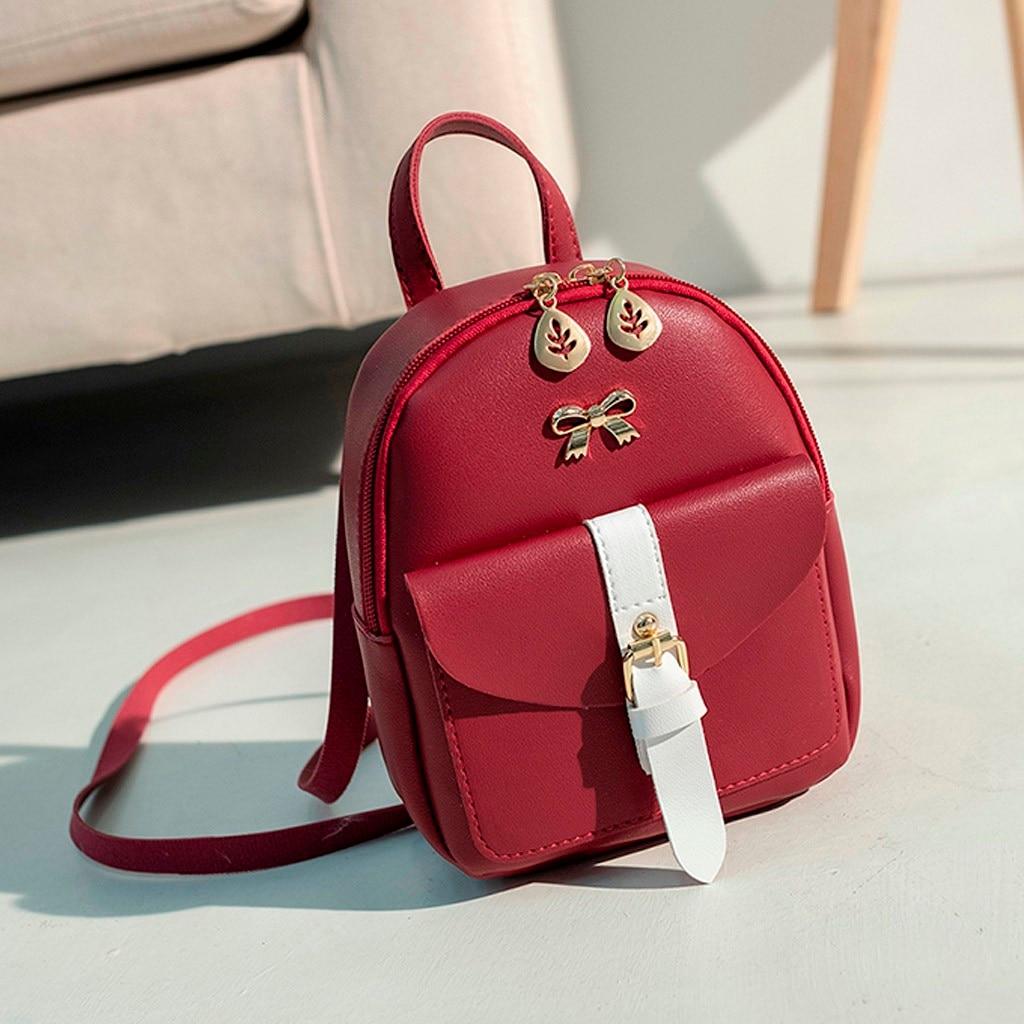 HTB16PKXNmzqK1RjSZFLq6An2XXaK Convenient fashion Travel Fashion Lady Shoulders Small Backpack Letter Purse Mobile Phone mochilas Canta