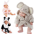 Infant Kids boys girls Animal Baby bathrobe baby Long Sleeves hooded bath towel infant bathing Clothes 0-5Y S
