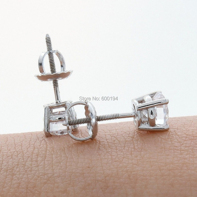 stud white shop cut squarecut screw diamond arrivals princess earrings back gold new square