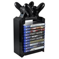 2019 New Game Disk Tower Vertical Stand for PS4 Dual Controller Charging Dock Station for PlayStation 4 PRO Slim