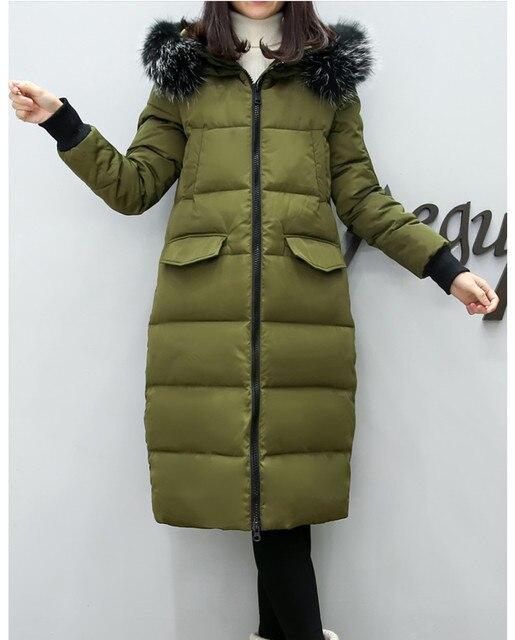 Материнства Зимних Женщин Вниз Пальто Куртки Большой Средней Длины Куртка Меховым Воротником Беременных Толщиной С Капюшоном Пальто Плюс Размер L-2XL E629