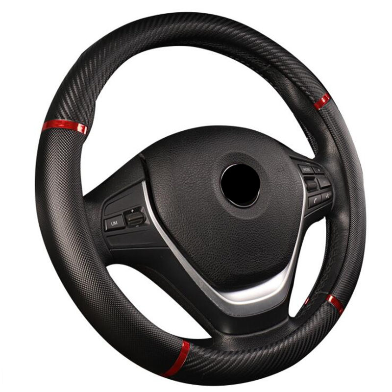 Universal Car Steering Wheel Cover Artificial Leather 5 Colors Comfortable Non-slip Automobile Steering-Wheel Car Styling