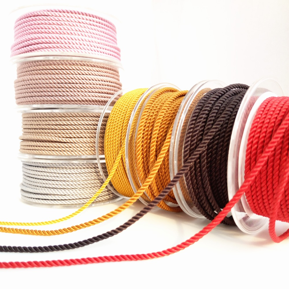 About the Fit 2mm 8M Milan Braided Silk-Like Cotton Cords Jewelry Accessories Necklace Making Beading Hand Crafting Woven Lace