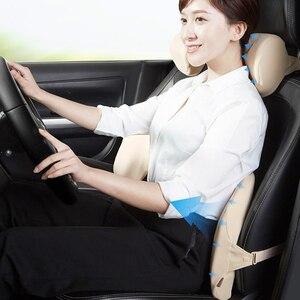 Image 5 - Roidmi Auto Hoofdsteun Kussen Kussen 60D Gevoel Van Geheugen Katoen Wasbaar Lumbale Voor Kantoor & Auto Snelle Verzending