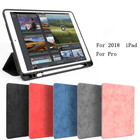 RUIXINDA For ipad 9.7 luxury soft leather iPad case, suitable for Apple ipad pro soft iPad retro ribbon pen case holster
