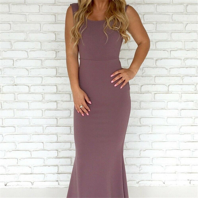 Maxi Kleid Sommerkleid Lang Aushöhlen Boho Sommer Strand Party Urlaub