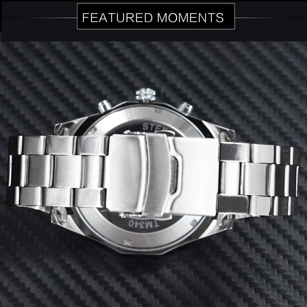 HTB16PLJrKOSBuNjy0Fdq6zDnVXaM WINNER New Fashion Mechanical Watch Men Skull Design Top Brand Luxury Golden Stainless Steel Strap Skeleton Man Auto Wrist Watch