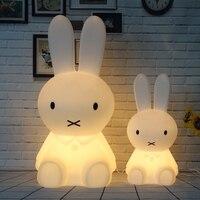 Rabbit Led Night Light Dimmable Baby Children Kids Gift Animal Cartoon Decorative Lamp Bedside Bedroom Living