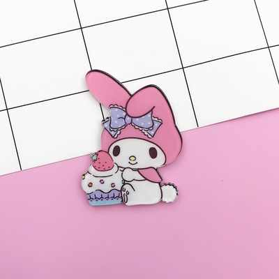 My Melody Enamel Pins Collar Hat Lapel Pin Brooch For Women and Girls Bunny Puppy Cute Jewelry