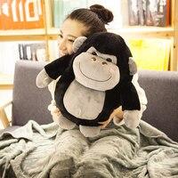 Candice guo! giocattolo sveglio della peluche del fumetto gorilla scimmia bambola di pezza cuscino coperta di compleanno creativo di compleanno regalo Di Natale 1 pz